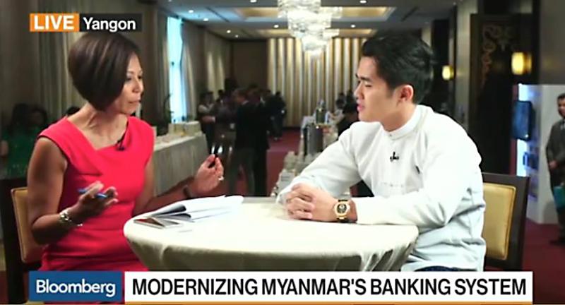 Interview of U Htoo Htet Tay Za, Managing Director of Asian Green Development Bank, Bloomberg Daybreak Asia